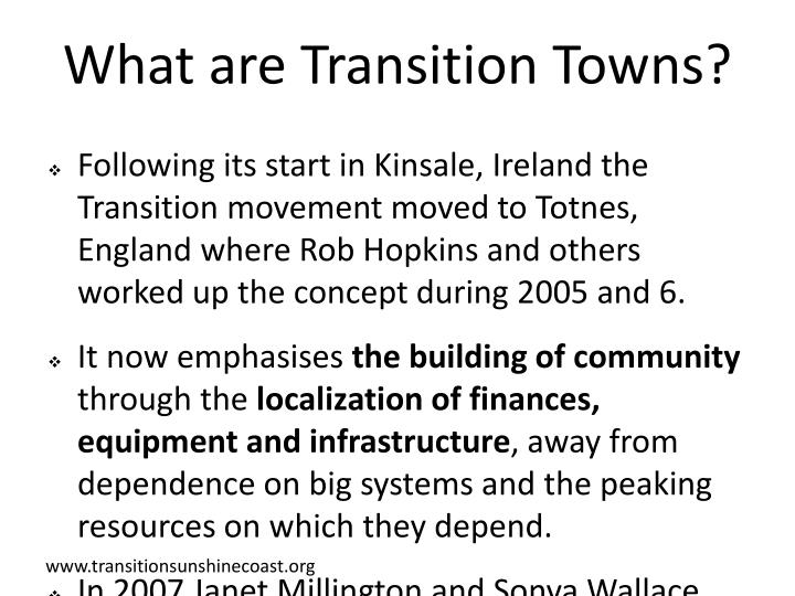 What are Transition Towns?