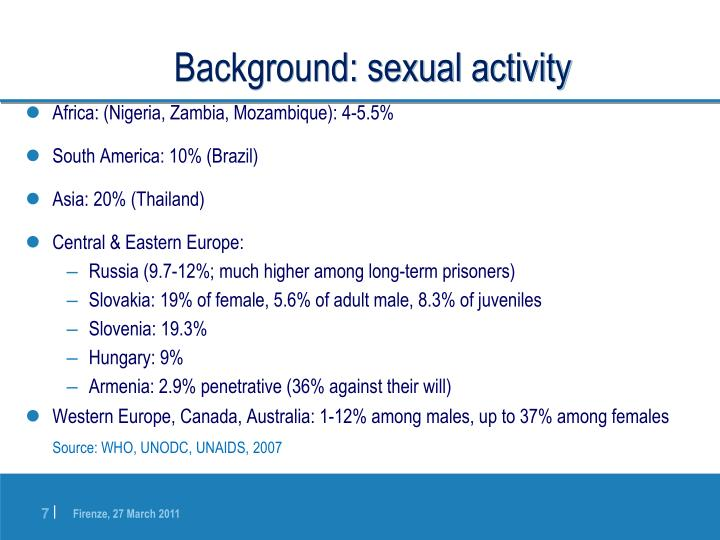 Background: sexual activity