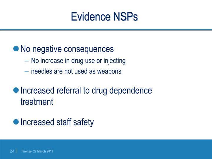 Evidence NSPs