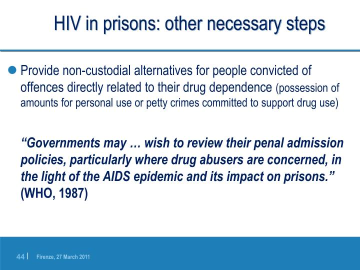 HIV in prisons: other necessary steps