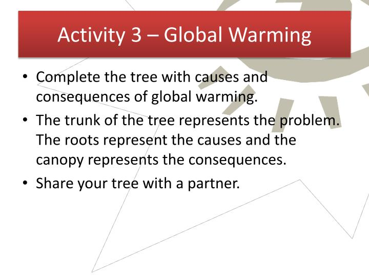 Activity 3 – Global Warming