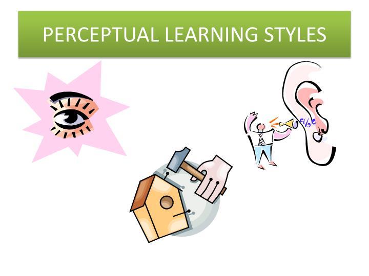 PERCEPTUAL LEARNING STYLES