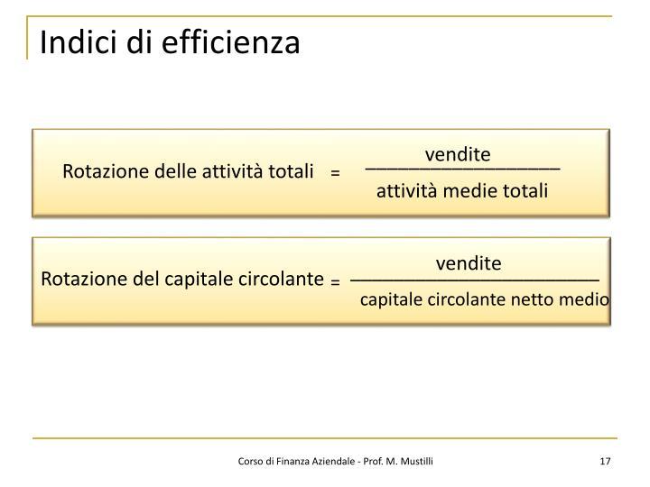 Indici di efficienza