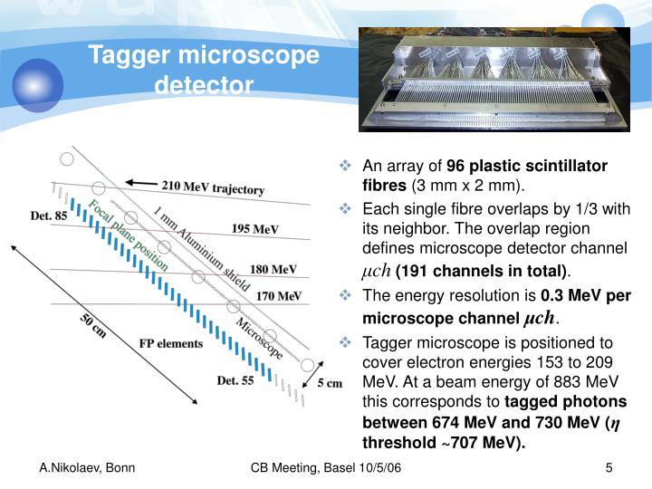 Tagger microscope detector