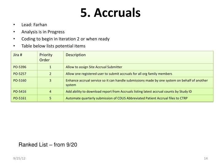5. Accruals