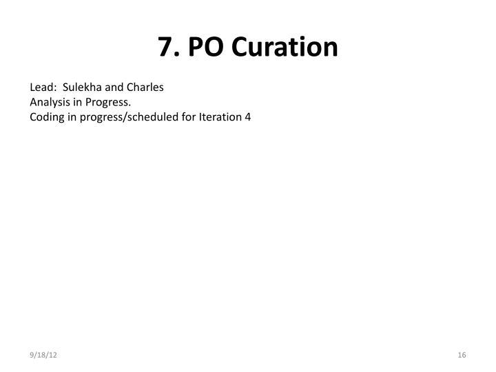 7. PO Curation