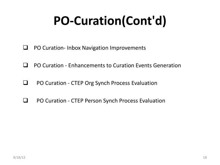 PO-Curation(Cont'd)