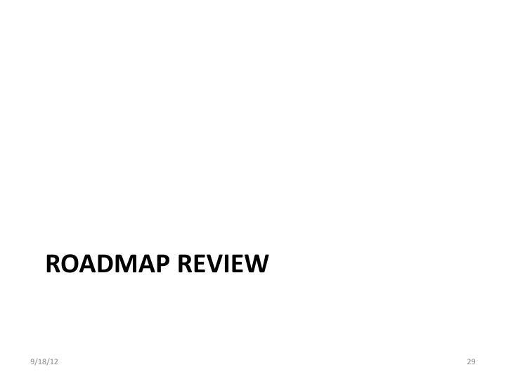 Roadmap Review