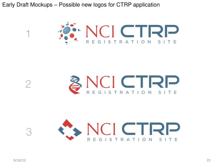 Early Draft Mockups – Possible new logos for CTRP application