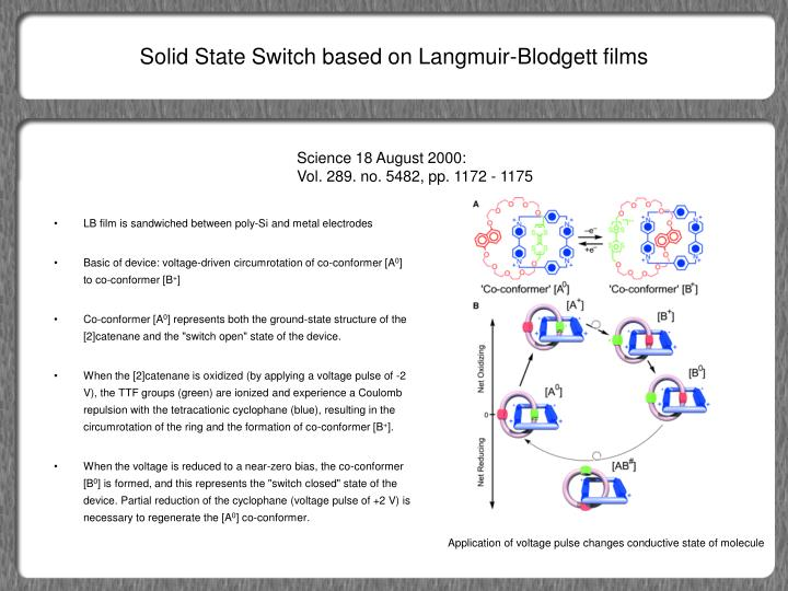 Solid State Switch based on Langmuir-Blodgett films