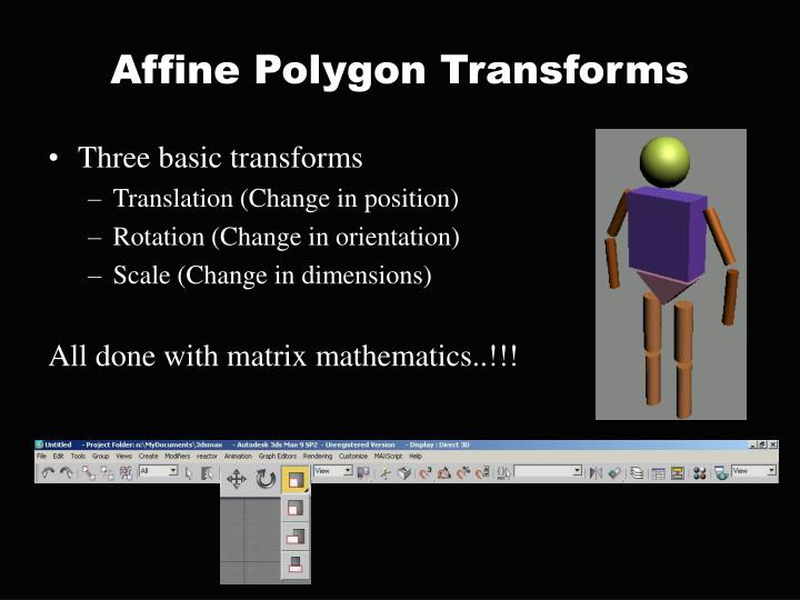Affine Polygon Transforms