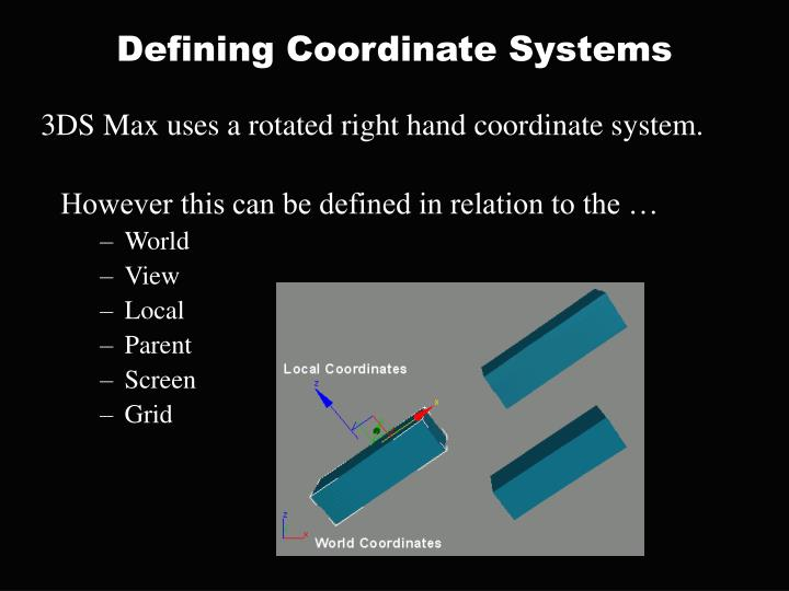 Defining Coordinate Systems