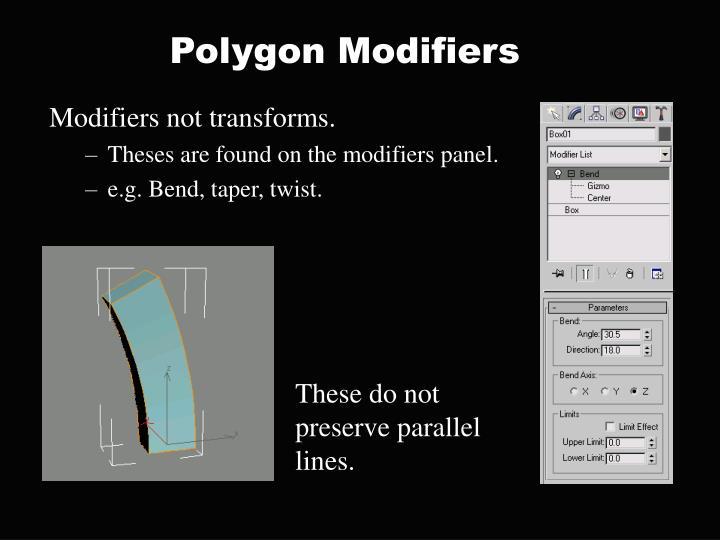Polygon Modifiers
