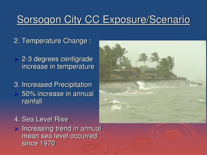 Sorsogon City CC Exposure/Scenario