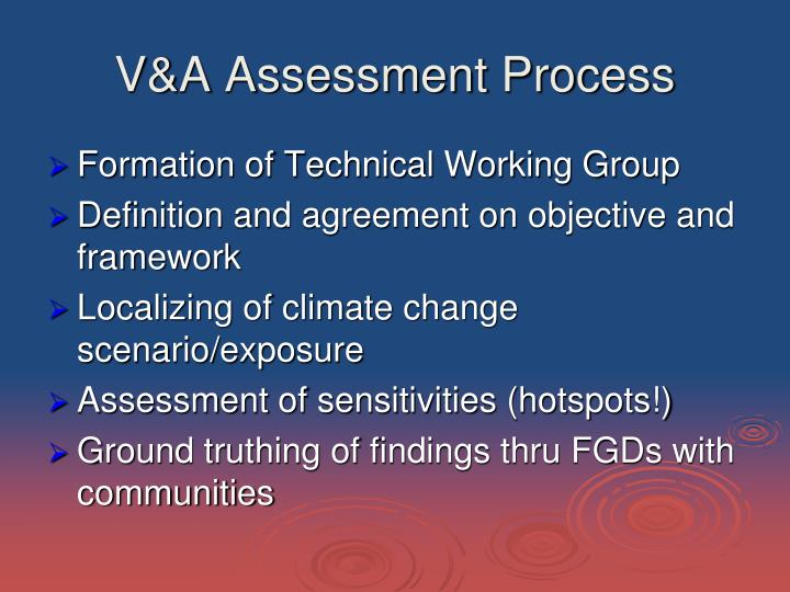 V a assessment process
