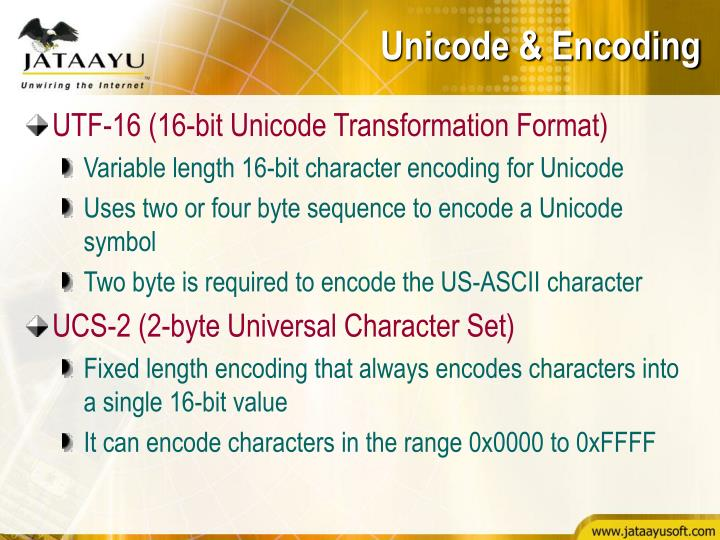 Unicode & Encoding
