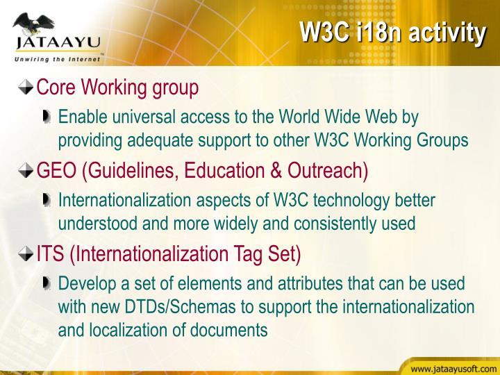 W3C i18n activity