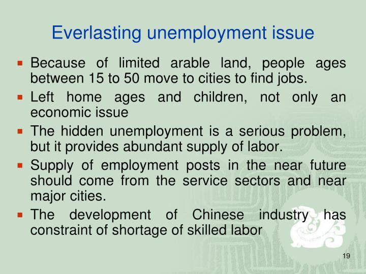 Everlasting unemployment issue