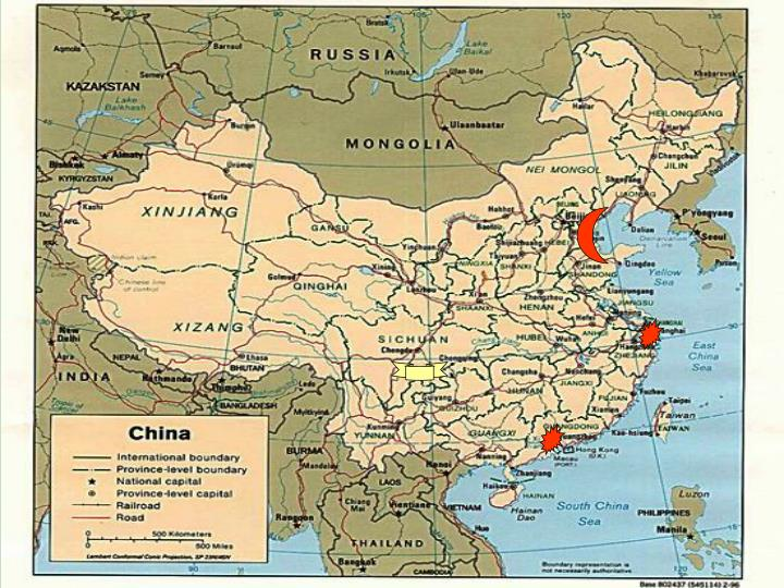 Map of P.R. China