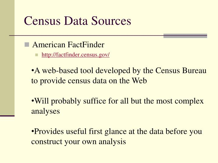 Census Data Sources