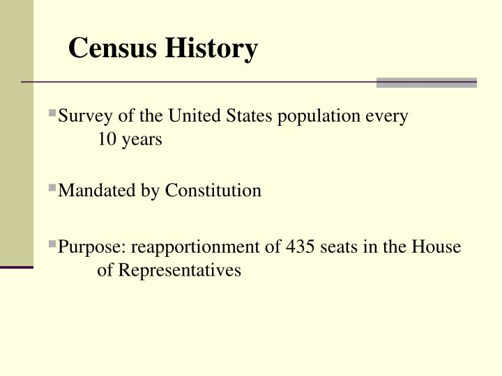 constitutional purpose and other uses of u s census essay Essay health care and constitutional chaos 2010 82 (us census bureau ser no p60 or any other aspect of congress's power to regulate commerce among the.