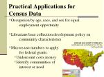 practical applications for census data2