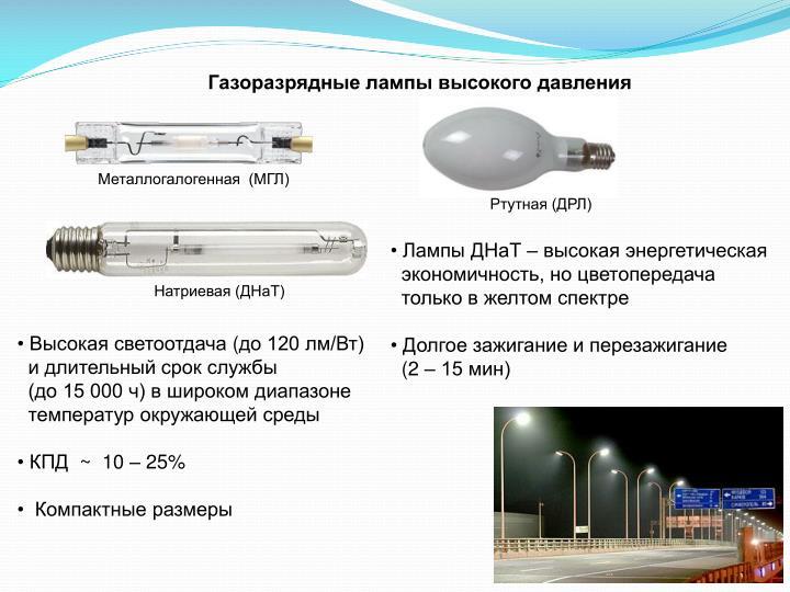Газоразрядные лампы высокого давления