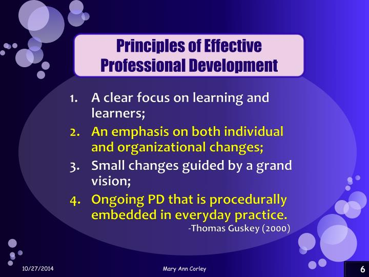 Principles of Effective