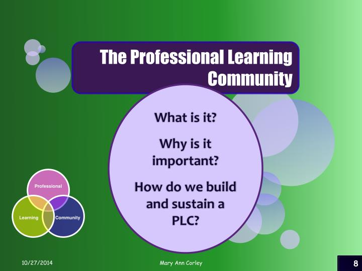 The Professional Learning Community
