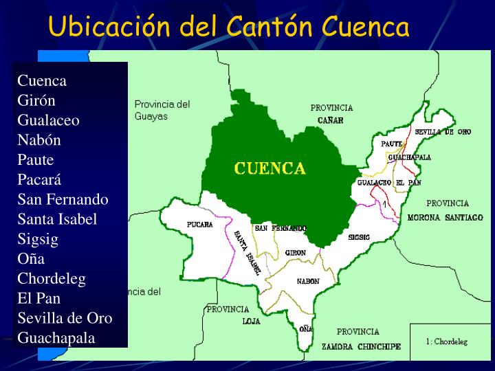 Ubicación del Cantón Cuenca
