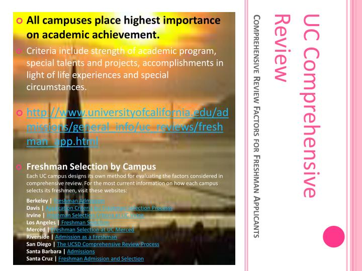 All campuses place highest importance on academic achievement.