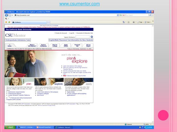 www.csumentor.com