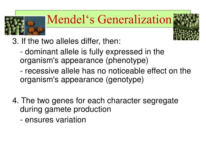 Mendel's Generalization