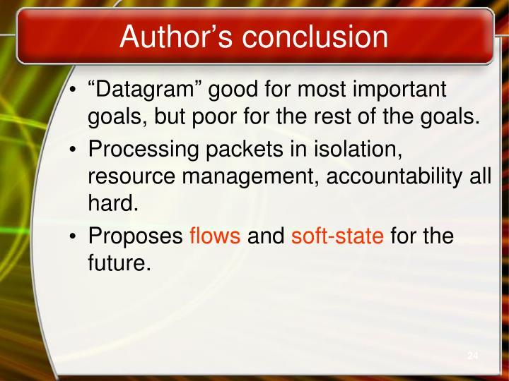 Author's conclusion
