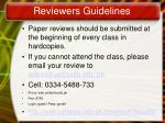 reviewers guidelines