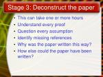 stage 3 deconstruct the paper