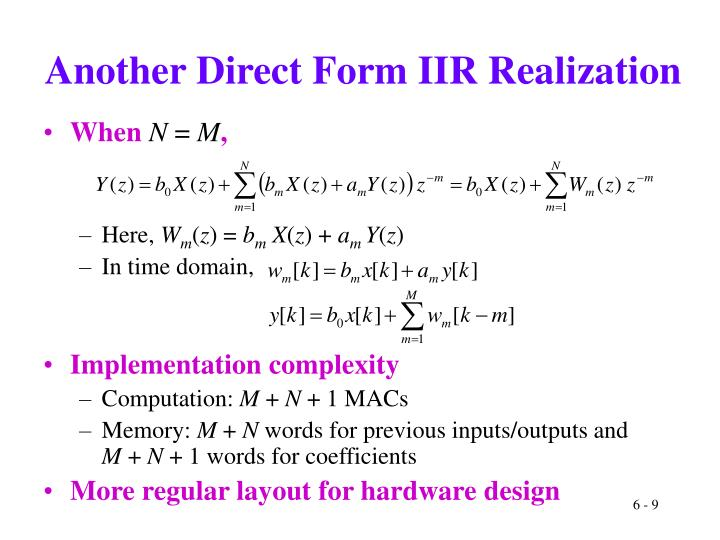 Another Direct Form IIR Realization