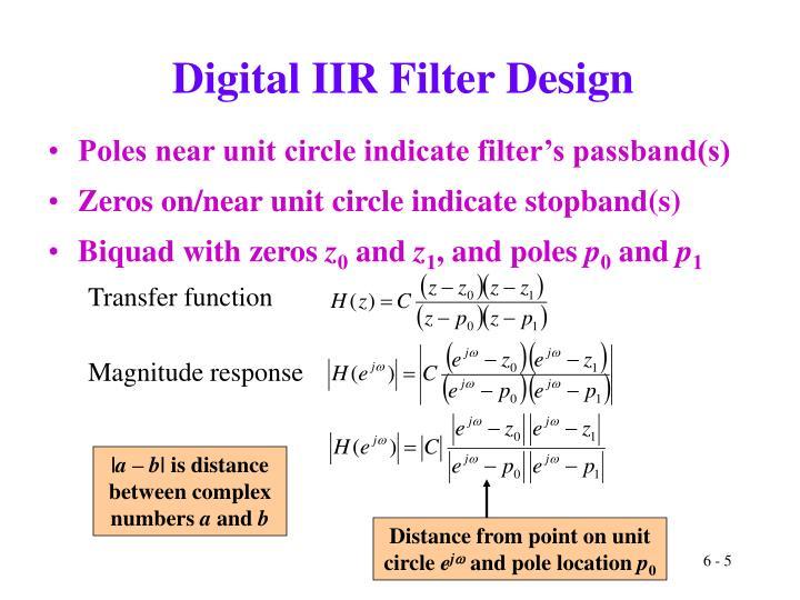 Digital IIR Filter Design