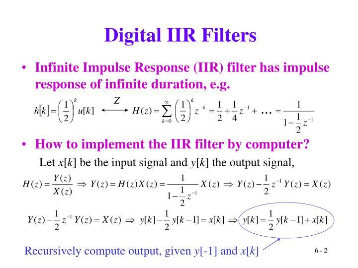 Digital IIR Filters