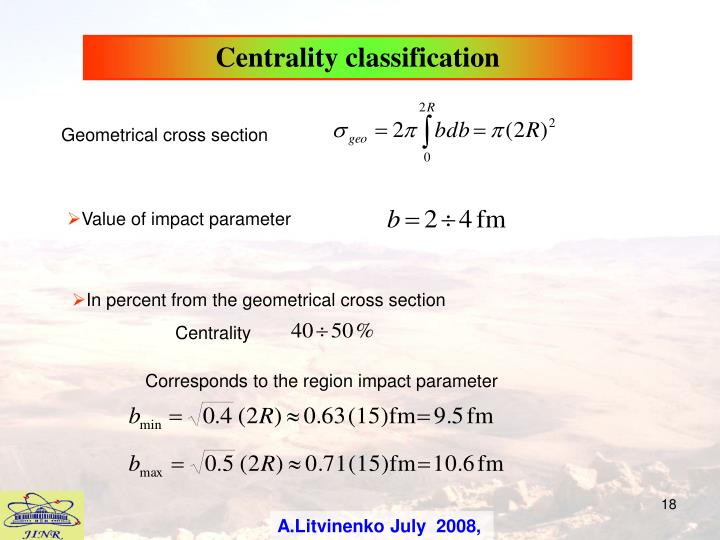Centrality classification