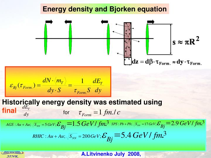 Energy density and
