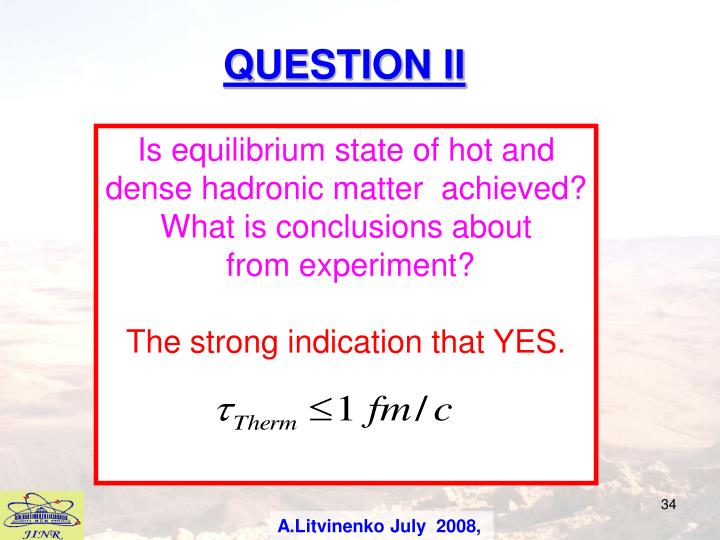 QUESTION II