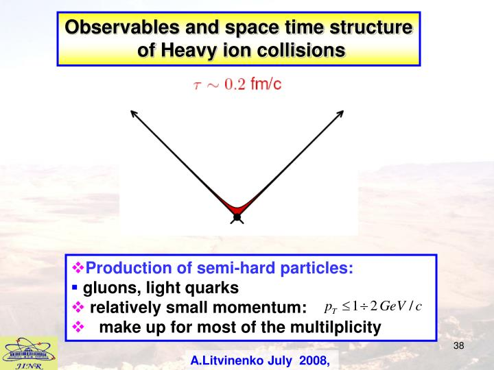 Observables and space time structure