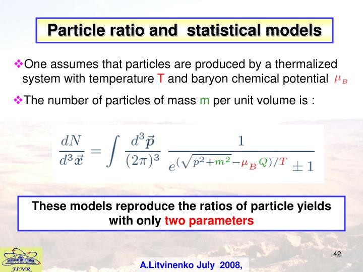 Particle ratio and  s
