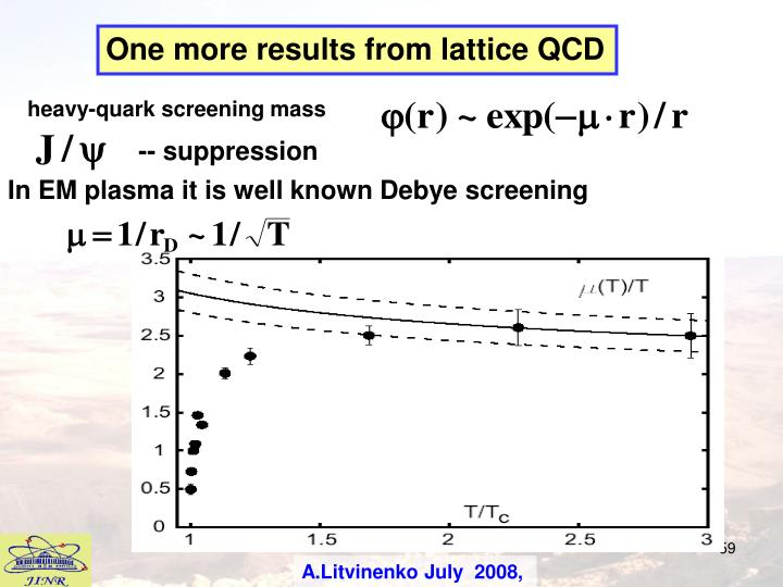 One more results from lattice QCD
