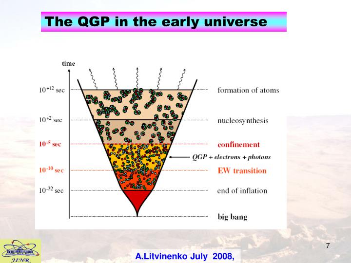 The QGP in the early universe