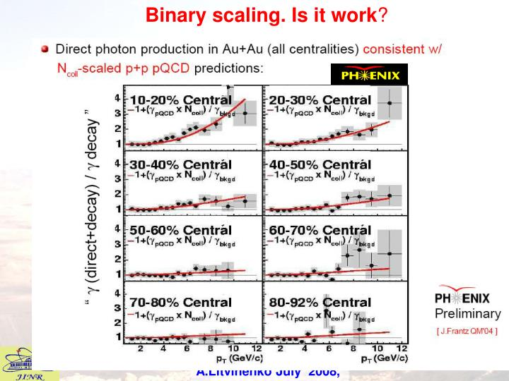 Binary scaling. Is it work