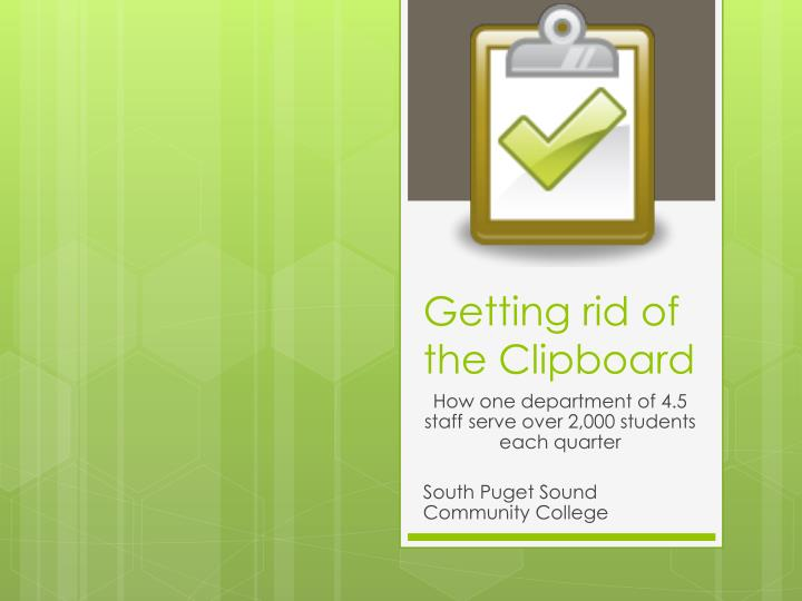Getting rid of the clipboard