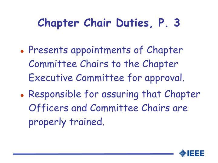 Chapter Chair Duties, P. 3