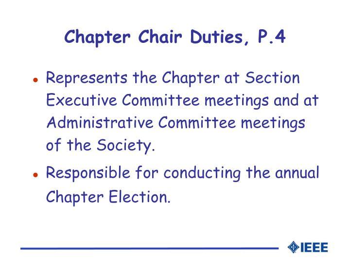 Chapter Chair Duties, P.4